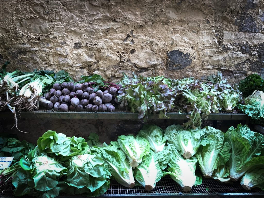Corfu vegetables,